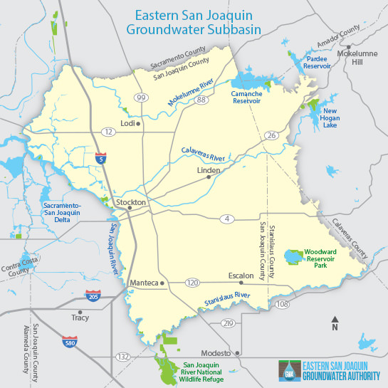 Eastern San Joaquin Groundwater Subbasin Map